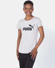 Puma Sportstyle Core ESS Logo Tee Light Gray Heather