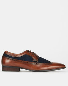 Mazerata Magio 6 Combo Formal Lace Up Shoes Brown