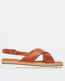 Queue X Detail Sandals Tan