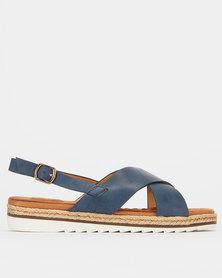 Queue X Detail Sandals Navy