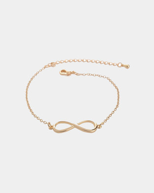 We Heart This Gold Infinity Bracelet