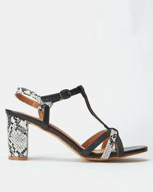 Butterfly Feet Ferida Heels Black