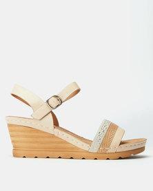 Butterfly Feet Albany Wedges Beige