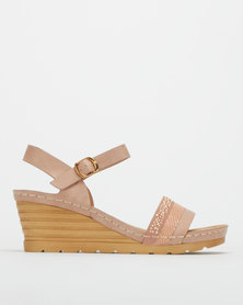 Butterfly Feet Albany Wedges Pink
