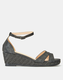 Butterfly Feet Ballina Wedges Black