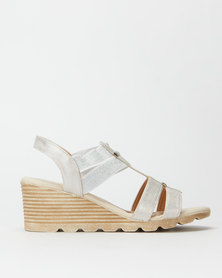 Butterfly Feet Camilla Wedges Silver