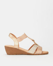 Butterfly Feet Carley Wedges Rose Gold