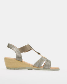 Butterfly Feet Carley Wedges Pewter
