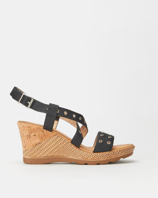 Butterfly Feet Gilberta Wedges Black
