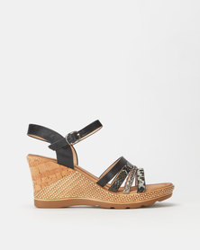 Butterfly Feet Saley Wedges Black