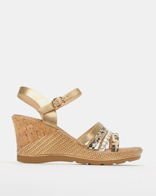 Butterfly Feet Saley Wedges Nude