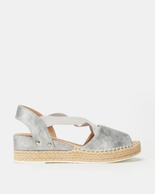 Butterfly Feet Houston Wedges Silver