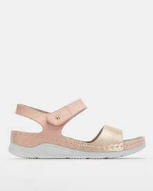 Butterfly Feet Zenobia Wedges Rose Gold