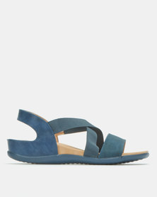 Butterfly Feet Tate Wedges Navy