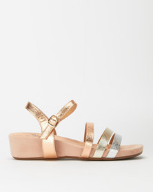 Butterfly Feet Sacha Wedges Rose Gold