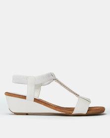Butterfly Feet Faye Wedges White
