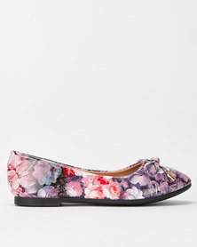 Pierre Cardin Girls Floral Pumps Pink