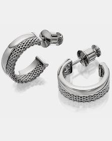 Skagen Elin SS Hoop Earrings Silver