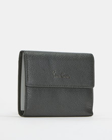 Pierre Cardin Ladies Small Trifold Wallet Black