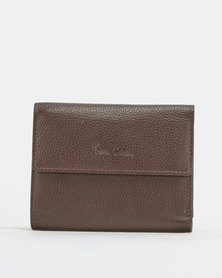Pierre Cardin Ladies Small Trifold Wallet Brown