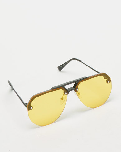 UNKNOWN EYEWEAR Swag Sunglasses Yellow