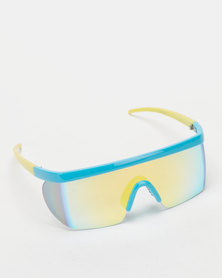 UNKNOWN EYEWEAR Racer Sunglasses Blue/Yellow