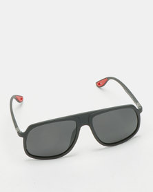 UNKNOWN EYEWEAR Renzo Polarised Sunglasses Black