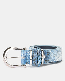 Queenspark Animal Ombre Belt Blue