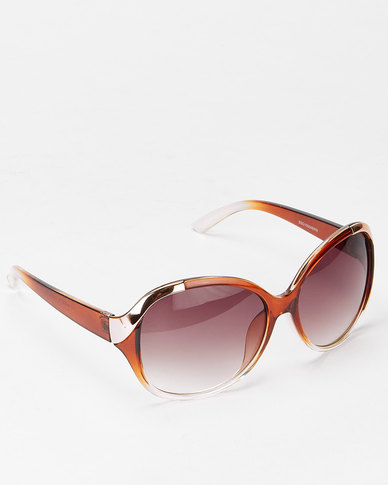 Queenspark Twist Sunglasses Brown/Gold