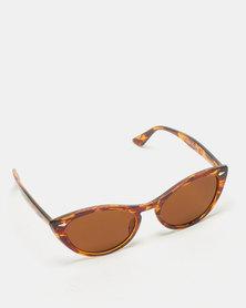 UNKNOWN EYEWEAR Agatha Cat Eye Sunglasses Tortiose Shell