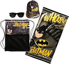 Batman Fun Beach Towel Sunnies & Cap Set