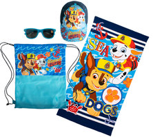 Paw Patrol Boys Fun Beach Towel Sunnies & Cap Set
