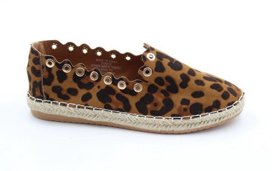 LaMara Paris Cayla leopard print mules