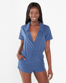 Hurley Shadow Romper Blue