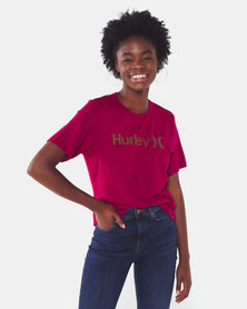Hurley One & Only Push Through Oversized Tee Red
