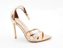 LaMara Paris Victoria stiletto sandals rose gold
