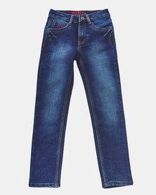 Soviet Commodus Skinny Denim Jeans Indigo