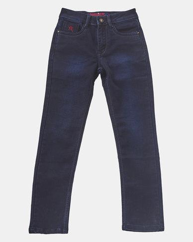 Soviet Double Dip Marcus Skinny Denim Jeans Blue