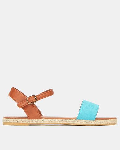 AWOL Colour Block Espadrille Sandals Multi