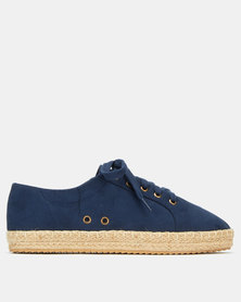 AWOL Lace Up  Espadrille Sneakers Navy