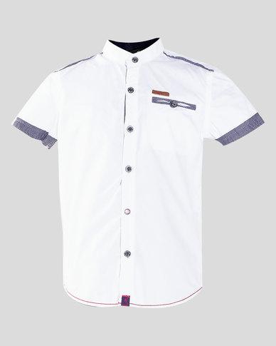 Soviet Toluca Boys Short Sleeve Shirt White