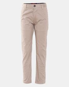 Soviet Maldini Boys Cotton Pants Taupe