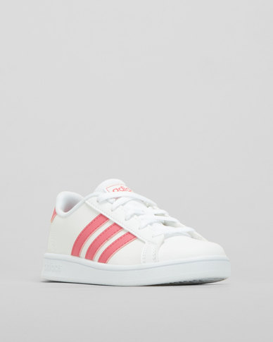 adidas Performance Girls Vector Sneakers White/Pink