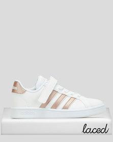 adidas Performance Girls Grand Court Sneakers White