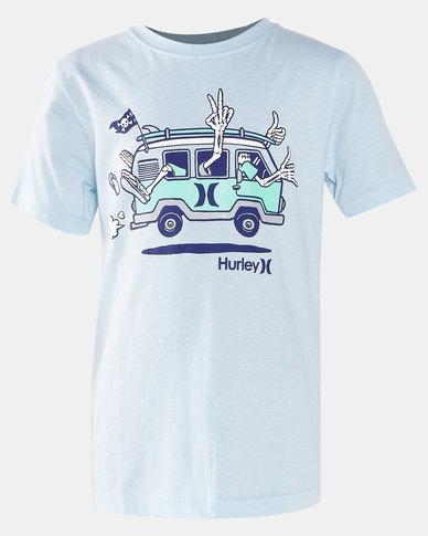 Hurley Pirate Van Tee Chambray Blue Heather