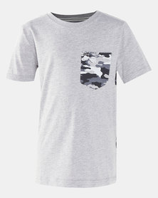 Hurley Full Back Print Tee DK Grey Heather