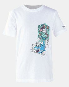 Hurley Shark Splash Pocket Tee White