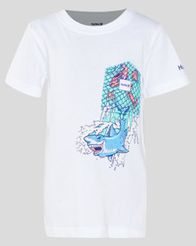 Hurley HRLB Shark Pocket Tee White