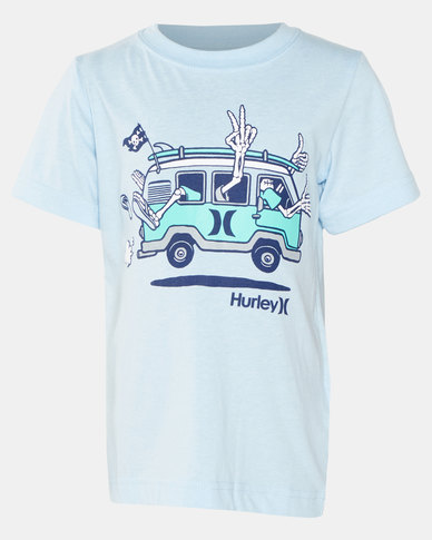 Hurley HRLB Pirate Van Chambray Tee Blue Heather