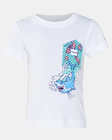 Hurley HRLB Shark Splash Pocket Tee White